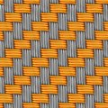 Woven gold and silver seamless texture tileable Stock Images