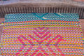 Woven mats handmade from dry reed imbue make in thailand Royalty Free Stock Photos
