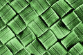 Woven pattern green brush texture  Stock Image