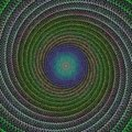 Woven spiral fractal design background Royalty Free Stock Photo