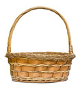 Woven wicker basket isolated on a white background Stock Images