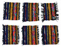 Woven wool rug Royalty Free Stock Photo
