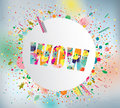 Wow poster vector illustration Royalty Free Stock Photo