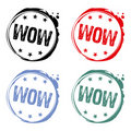 Wow rubber stamp Stock Images