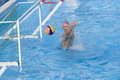 Wpo usa v macedonia th world aquatics championships rome jul italy merrill moses team player saves a shot while competing Stock Image