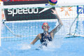 Wpo world aquatics championship china vs usa jul rome italy team player elizabeth armstrong saves a shot during the quarter final Stock Photo