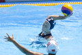 Wpo world aquatics championship china vs usa jul rome italy team player heather petri takes a shot at goal durin the quarter final Stock Image