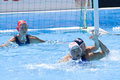 Wpo world aquatics championship china vs usa jul rome italy team player jessica steffens defends a ball while competing in the Stock Image