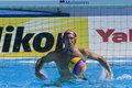 Wpo world aquatics championship usa vs croatia jul rome italy team goalkeeper merrill moses competing in the bronze medal play off Royalty Free Stock Photo