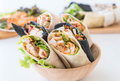wrap salad roll Royalty Free Stock Photo