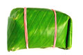 The wrapped in banana leaves thai Stock Photos