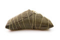 Wrapped Chinese ZongZi on white for Dragon Boat Festival Royalty Free Stock Photo