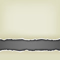 Wrapped paper background the torn white and black inside Royalty Free Stock Image