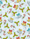 Wrapping paper with christmas elements, Royalty Free Stock Photo