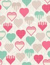 Wrapping paper with  hearts,  Stock Photography