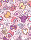 Wrapping paper with  hearts, vector Royalty Free Stock Images