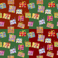 Wrapping paper with present boxes Royalty Free Stock Photo