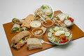 Wraps Salads Sandwiches and Soups Royalty Free Stock Photo