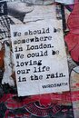 Writings & street art, By author known as WRDSMTH Royalty Free Stock Photo