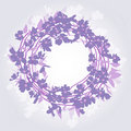 Wreath background Stock Image