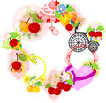 The wreath of cherry objects