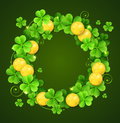 Wreath of clover leaves