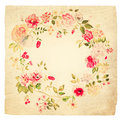Wreath of flowers watercolor can be used as vintage retro background greeting card invitation card for wedding birthday Royalty Free Stock Image