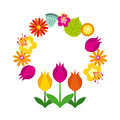 Wreath of flowes icon