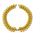 Wreath of laurels Royalty Free Stock Photo