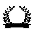 Wreath leafs crown emblem