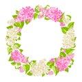 Wreath of lilac twigs