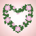 Wreath of rose Royalty Free Stock Photo