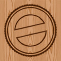 Wreath seal brand woodgrain pattern background Stock Photography