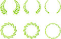 Wreath set Royalty Free Stock Photo