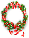 Wreath with  spruce  tree Royalty Free Stock Photography