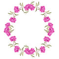 Wreath with watercolor peonies