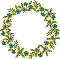 Wreath of wild flowers. Stock Images