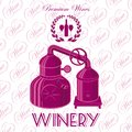 Wreath winery for wine vector background with Stock Photos