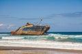 Wreck of fomer ship american star fuerteventura off the coast Stock Photos