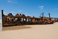 Wreck of the maheno fraser island rusting hulk australia Royalty Free Stock Photos