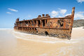 Wreck of the Maheno, Fraser Island. Royalty Free Stock Photo