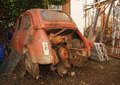 Wrecked Old Italian Car Stock Photography