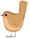 Wren bird stylised drawing of a Stock Photos