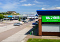 Wren kitchens nottingham castle marina retail park car and other retailers at in england on st may Royalty Free Stock Photography