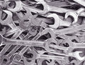 Wrench background Royalty Free Stock Images
