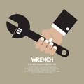 Wrench hand holding vector illustration Stock Photos