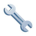 Wrench isolated illustration on white background Stock Photography