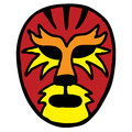 Wrestling mask big cat inspired mexican Stock Photography
