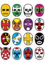 Wrestling Mexican Lucha Masks Stock Photos