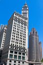 Wrigley Building and Herald Tribune in Chicago Stock Images